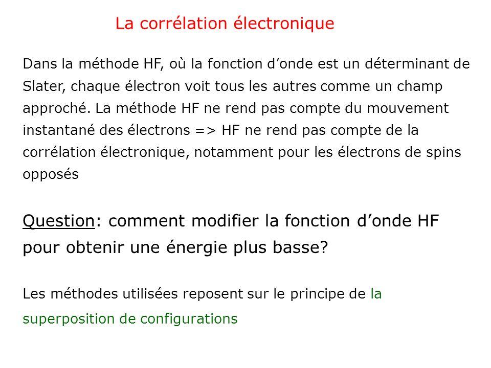 La corrélation électronique