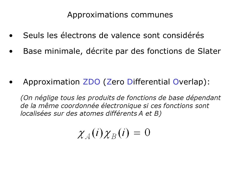 Approximations communes