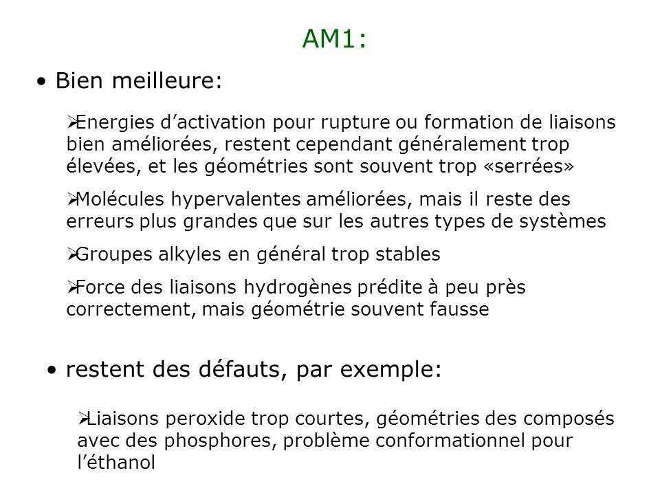AM1: Bien meilleure: restent des défauts, par exemple: