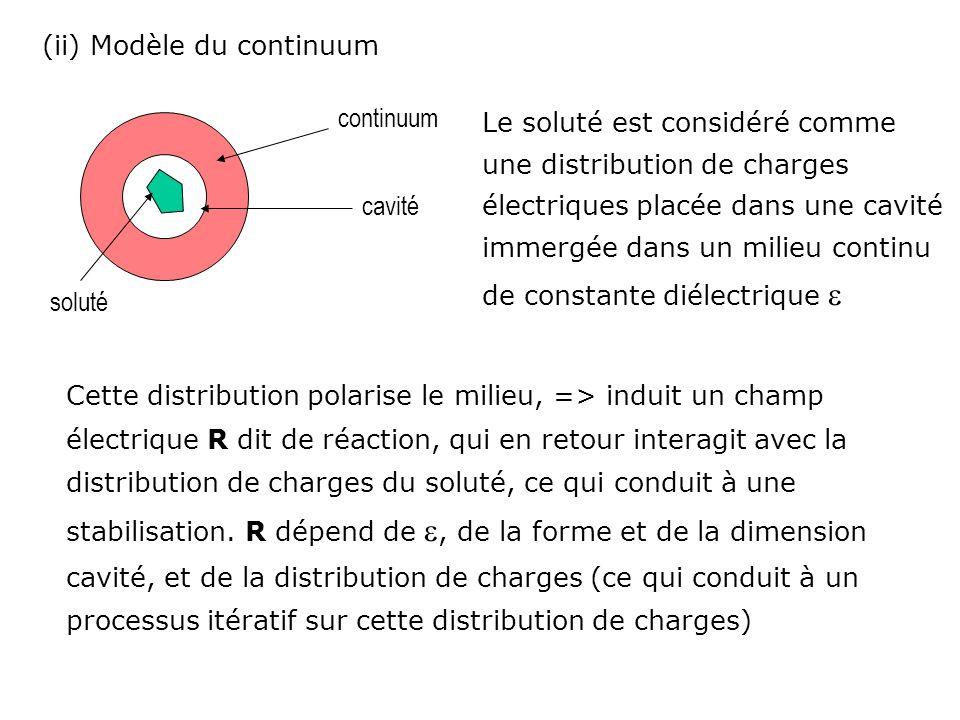 (ii) Modèle du continuum