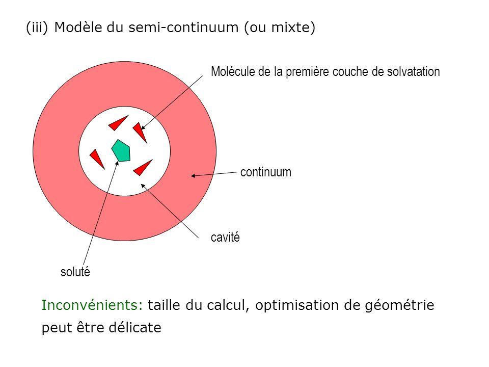 (iii) Modèle du semi-continuum (ou mixte)
