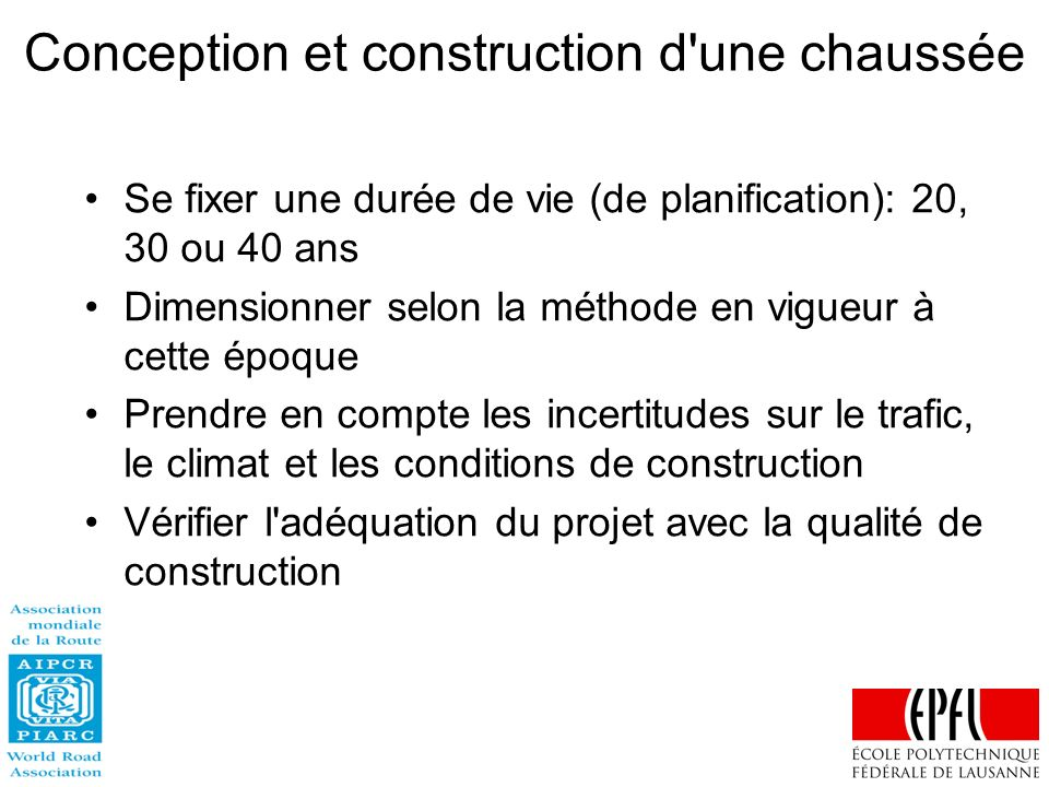 Conception et construction d une chaussée