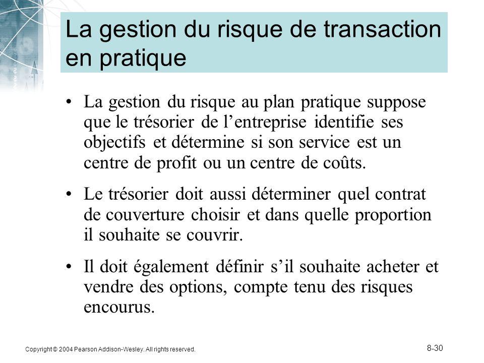 La gestion du risque de transaction en pratique