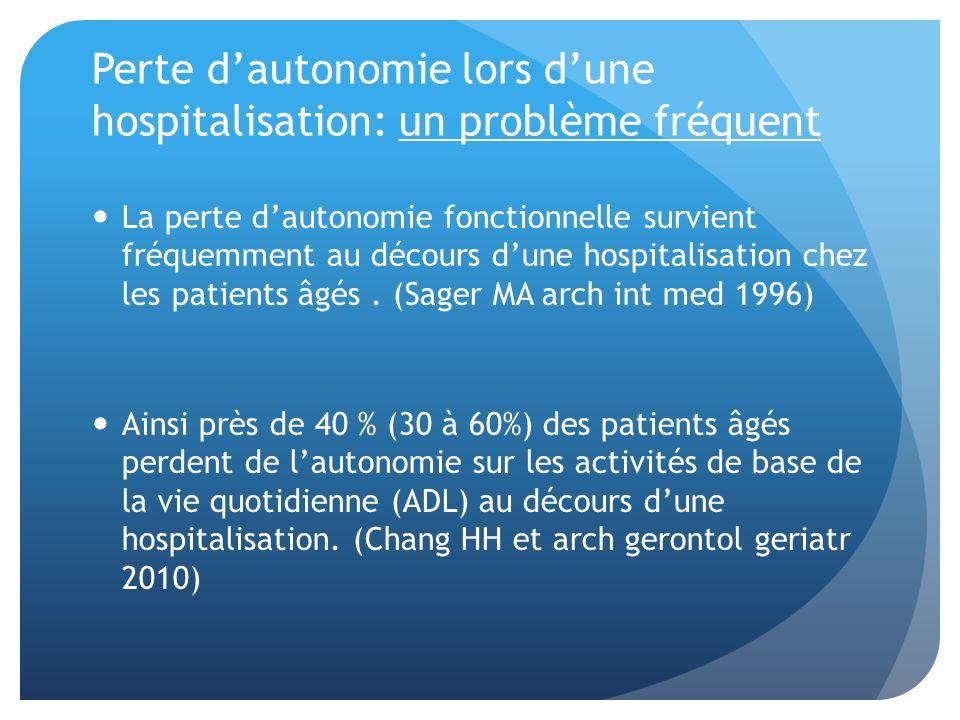 Perte d'autonomie lors d'une hospitalisation: un problème fréquent