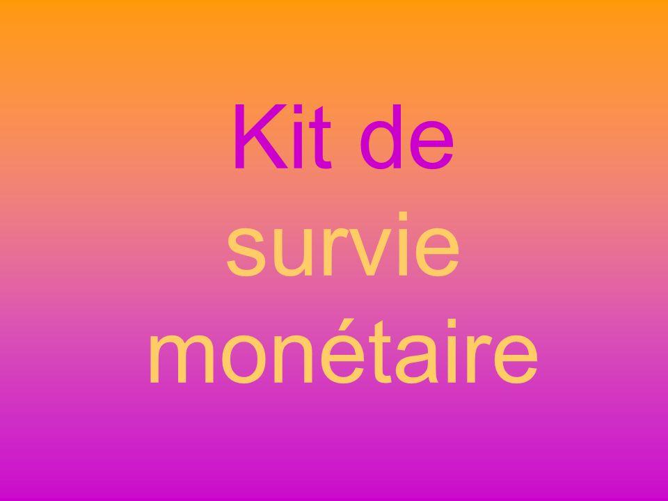 Kit de survie monétaire