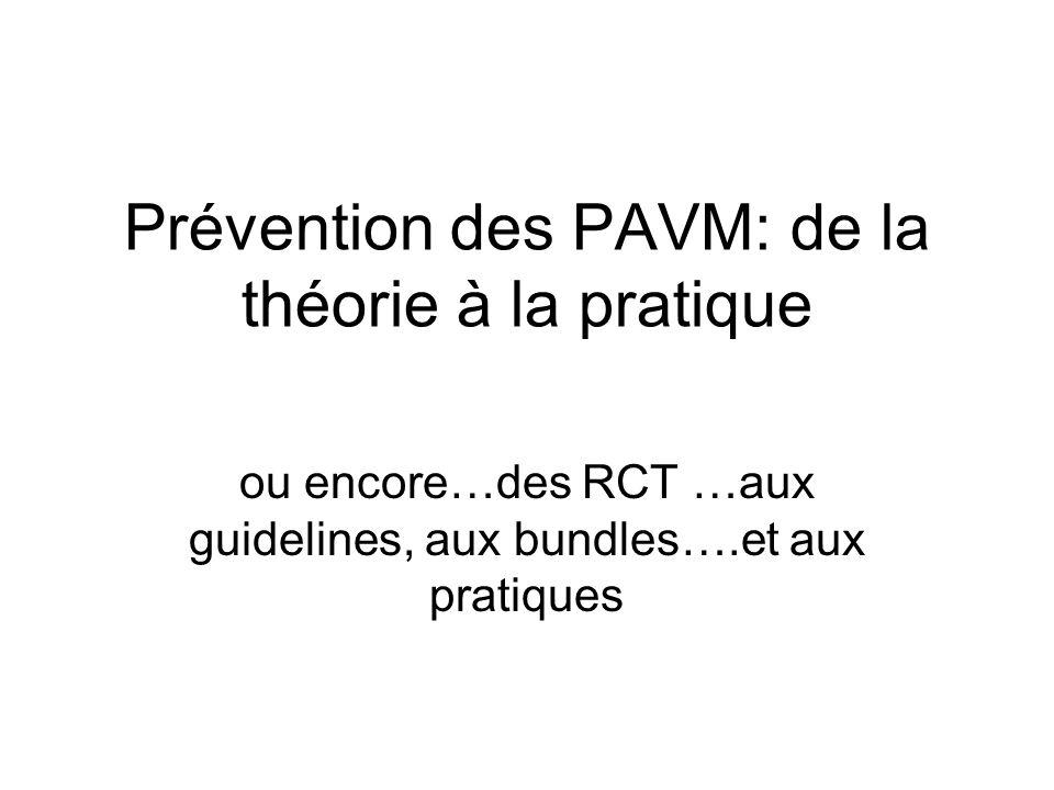 Prévention des PAVM: de la théorie à la pratique