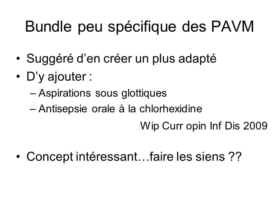 Bundle peu spécifique des PAVM