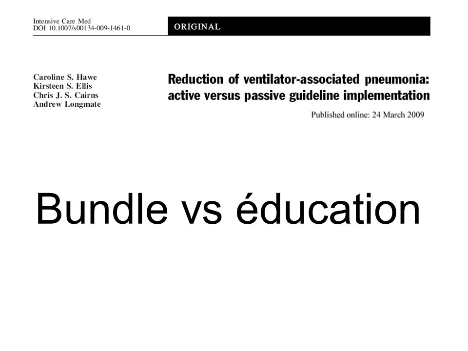 Bundle vs éducation