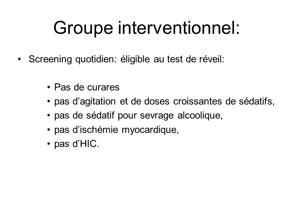 Groupe interventionnel: