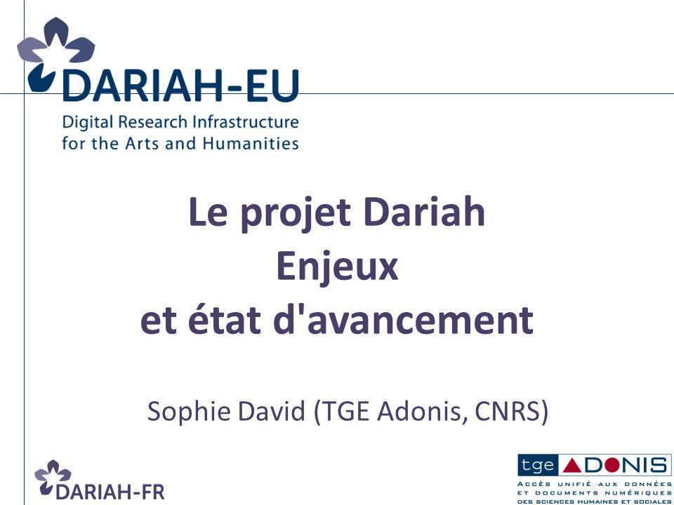 Sophie David (TGE Adonis, CNRS)