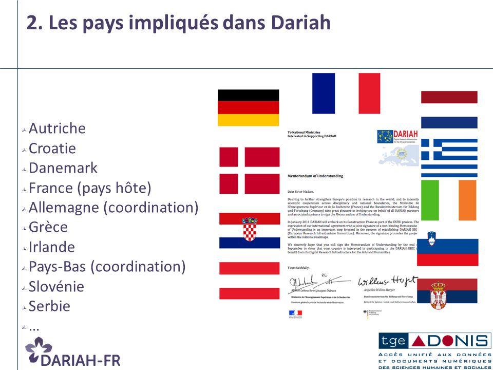 2. Les pays impliqués dans Dariah