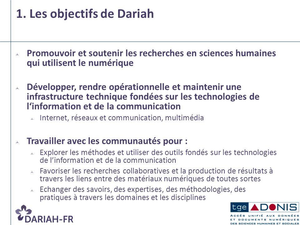 1. Les objectifs de Dariah