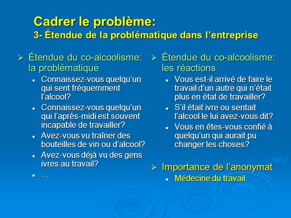 Cadrer le problème: 3- Étendue de la problématique dans l'entreprise