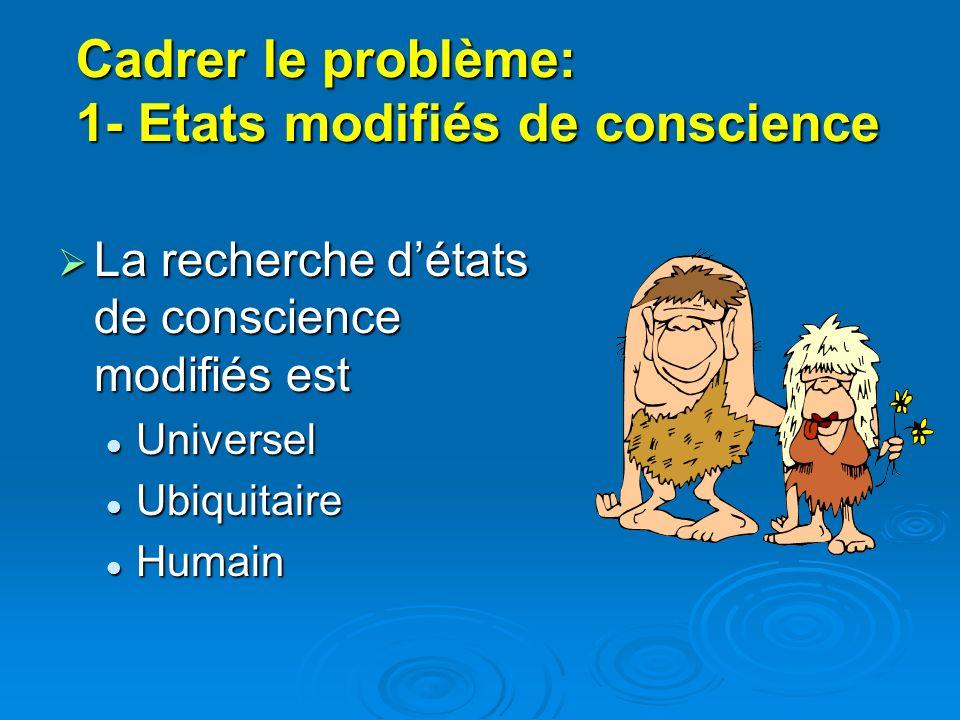 Cadrer le problème: 1- Etats modifiés de conscience