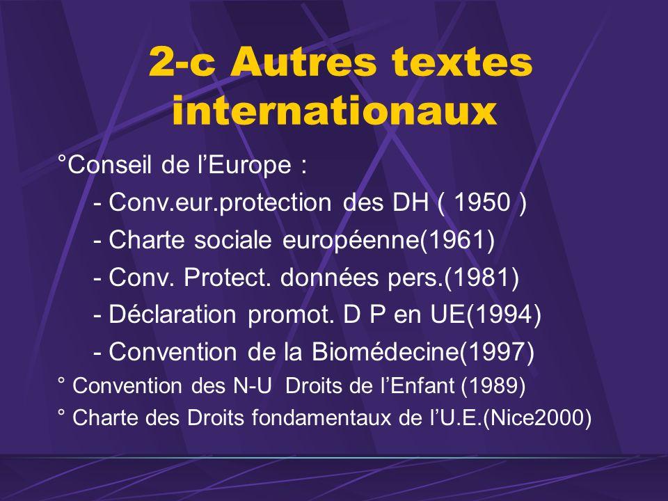 2-c Autres textes internationaux