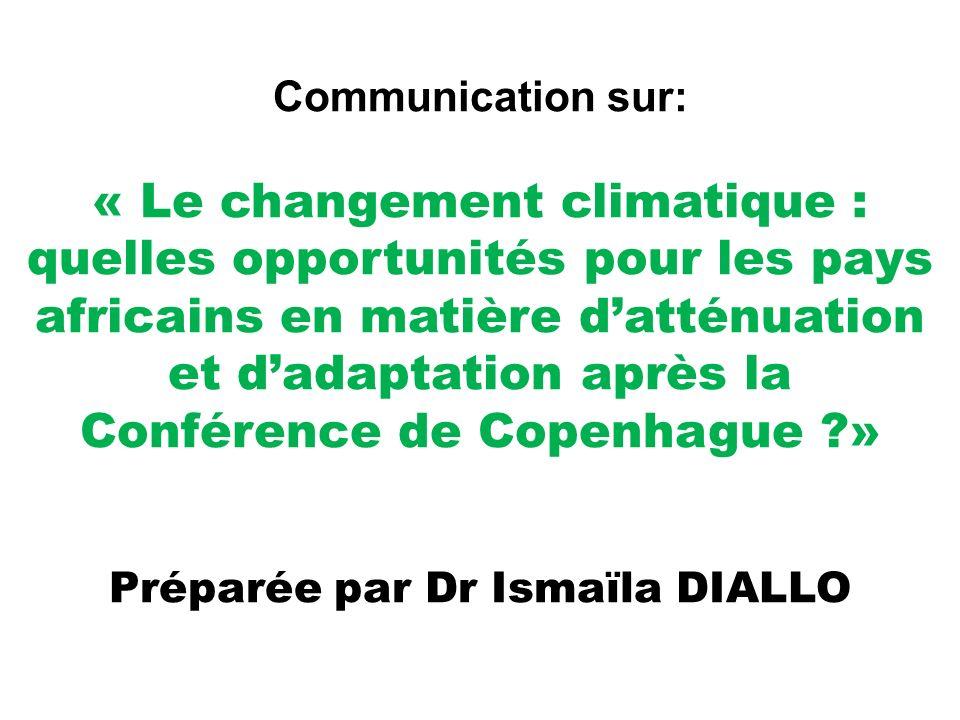 Préparée par Dr Ismaïla DIALLO