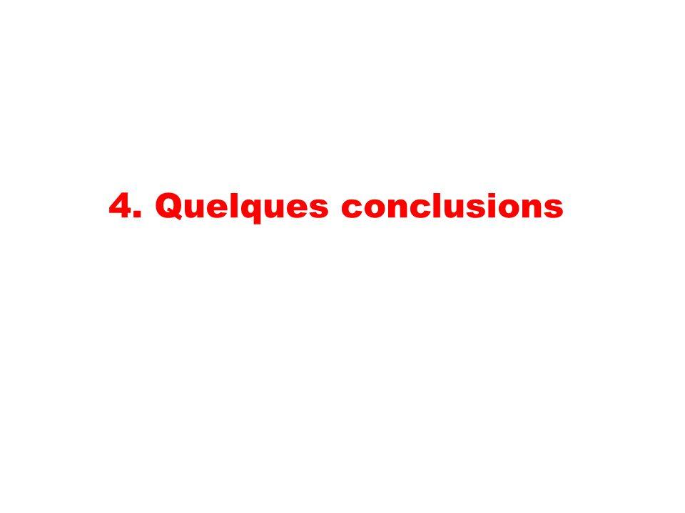 4. Quelques conclusions