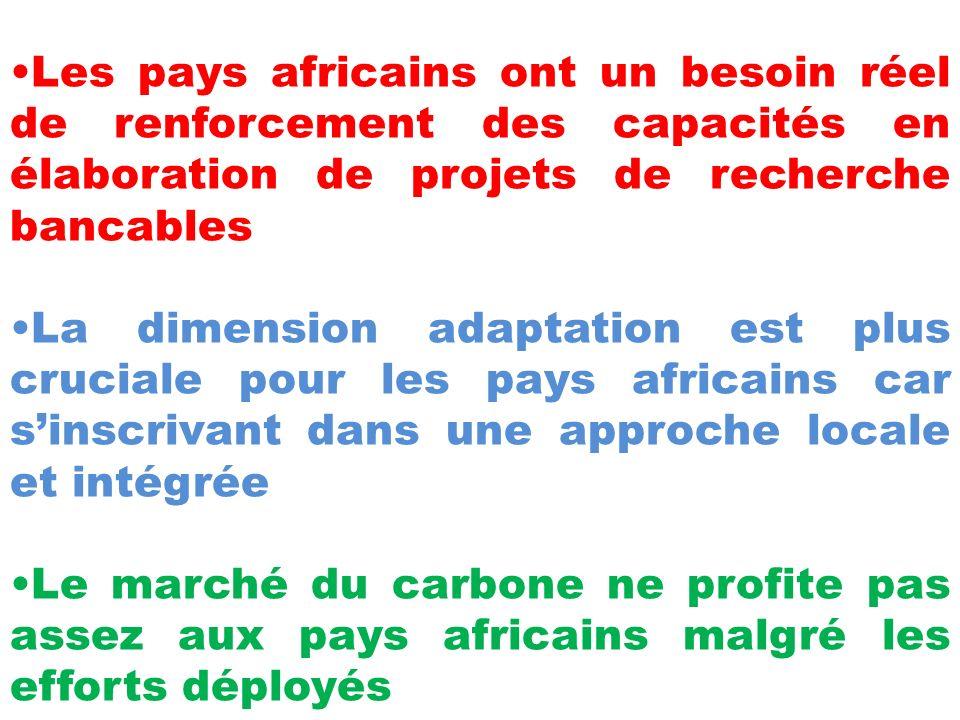 Les pays africains ont un besoin réel de renforcement des capacités en élaboration de projets de recherche bancables