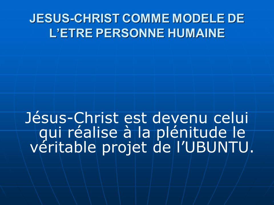 JESUS-CHRIST COMME MODELE DE L'ETRE PERSONNE HUMAINE