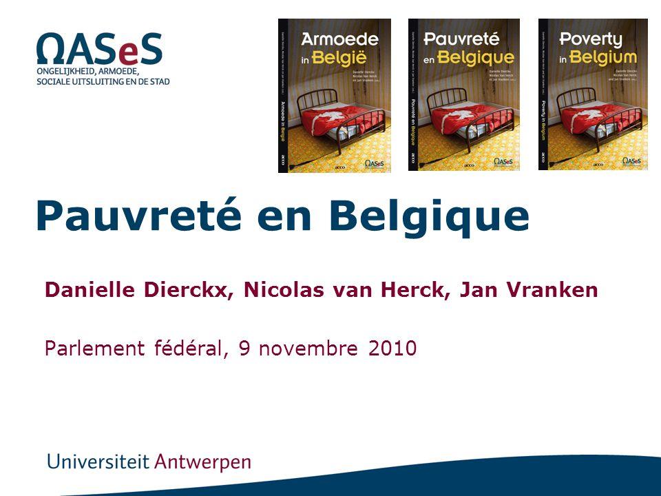 Pauvreté en Belgique Danielle Dierckx, Nicolas van Herck, Jan Vranken