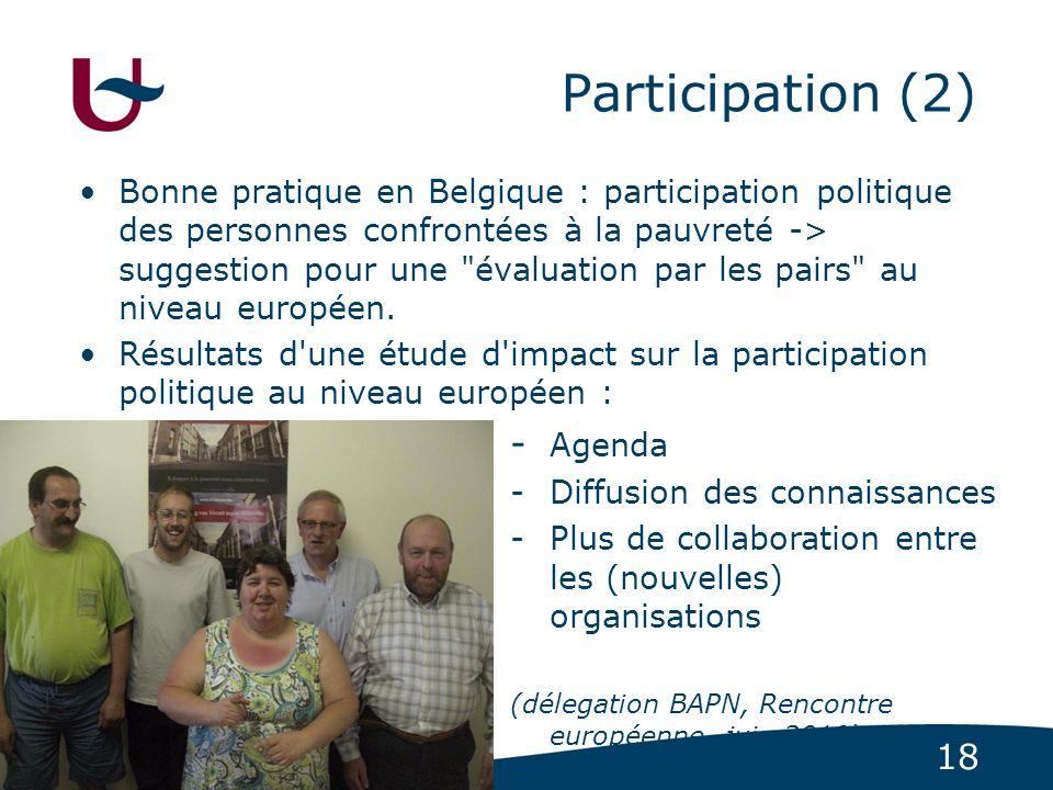 Participation (2) - Agenda