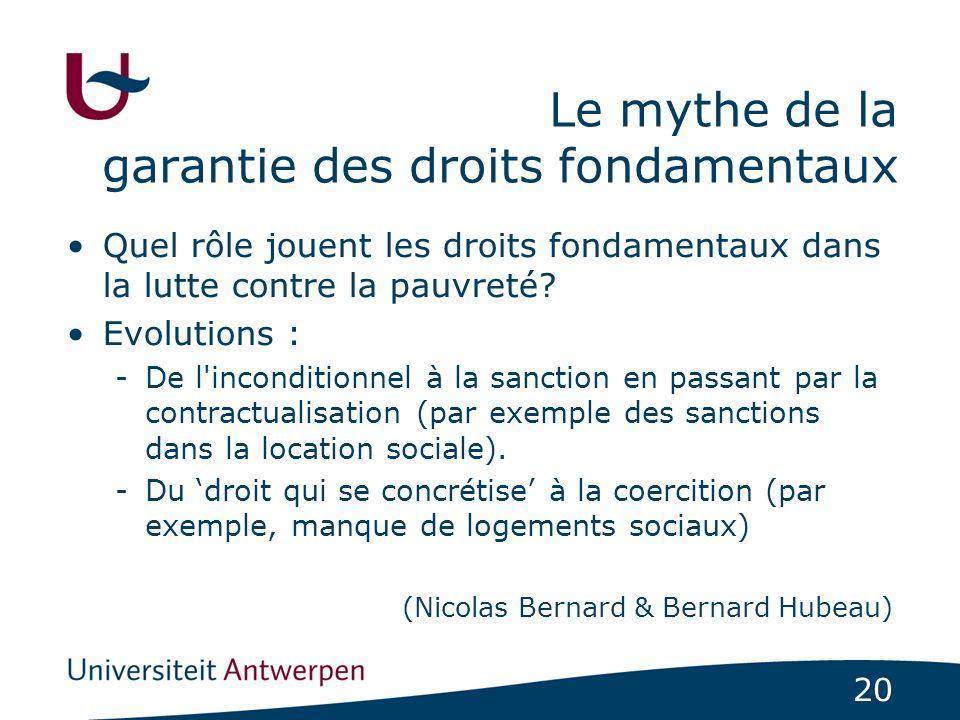 Le mythe de la garantie des droits fondamentaux