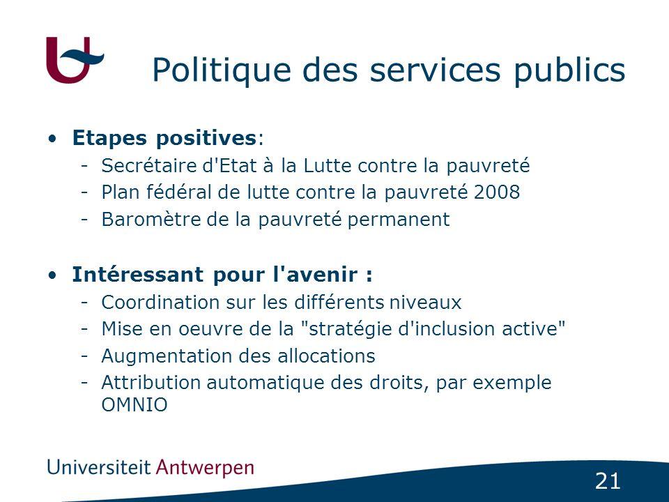 Politique des services publics