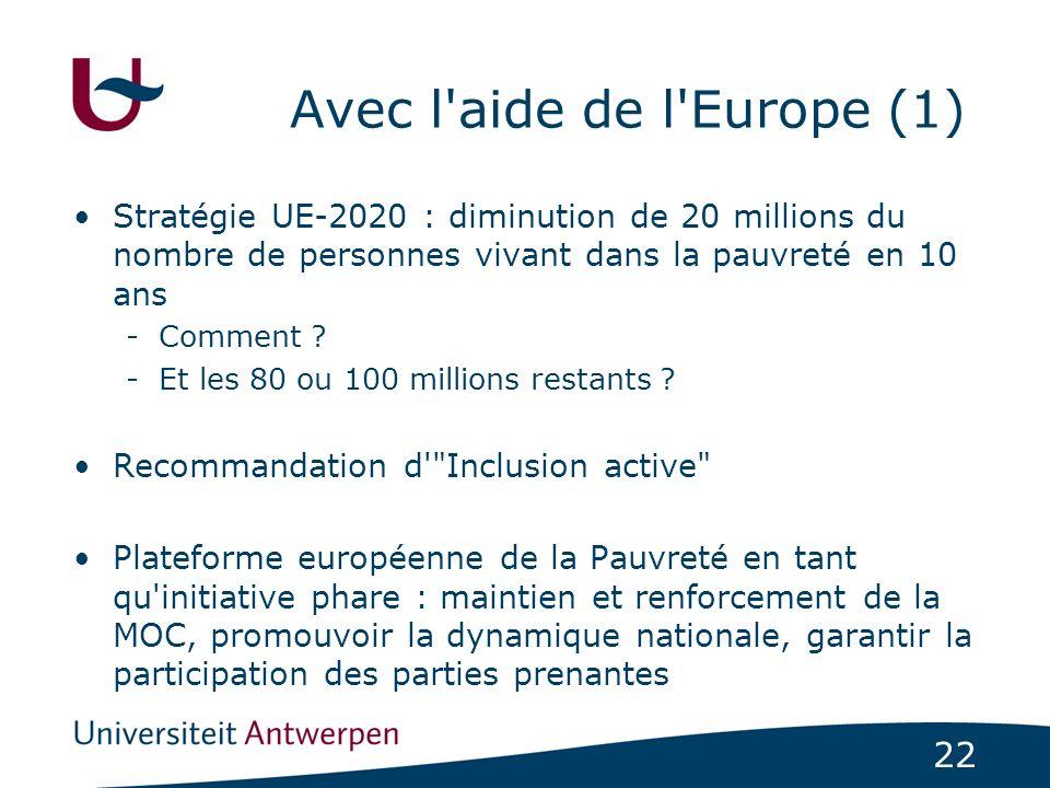 Avec l aide de l Europe (1)