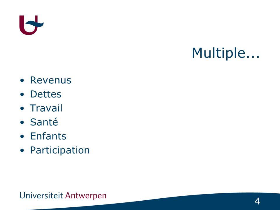 Multiple... Revenus Dettes Travail Santé Enfants Participation