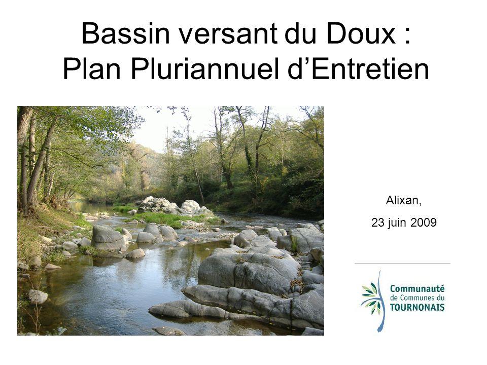 Bassin versant du Doux : Plan Pluriannuel d'Entretien