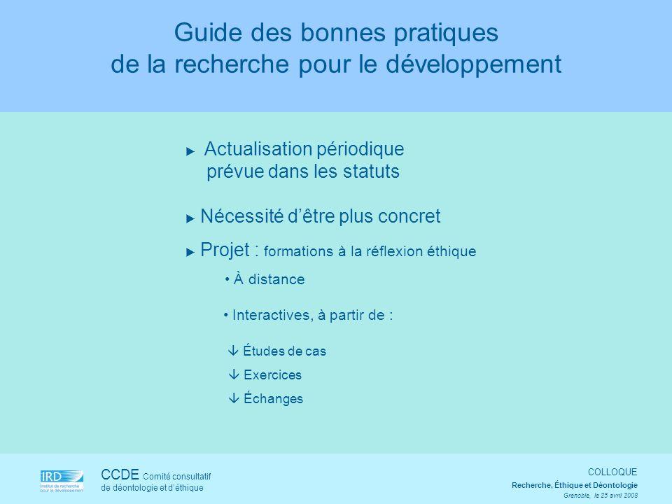 Guide des bonnes pratiques de la recherche pour le développement
