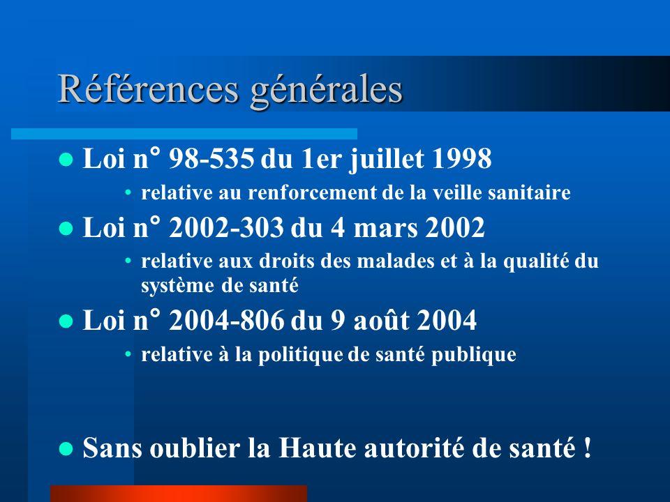Références générales Loi n° 98-535 du 1er juillet 1998