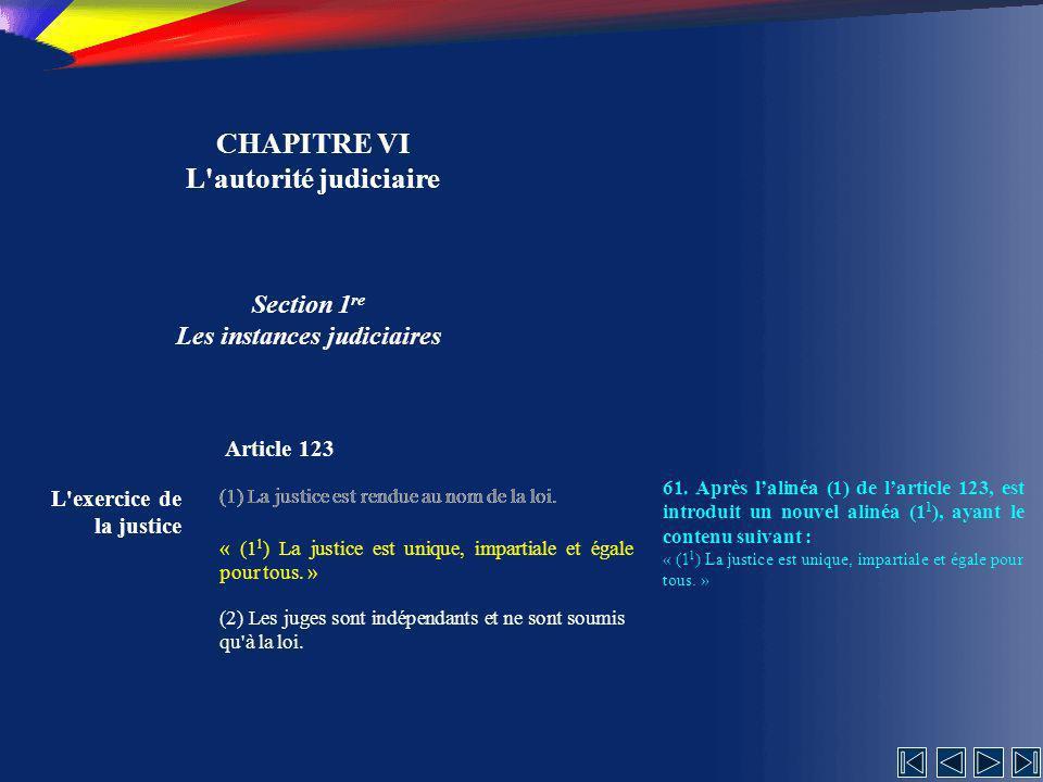 CHAPITRE VI L autorité judiciaire