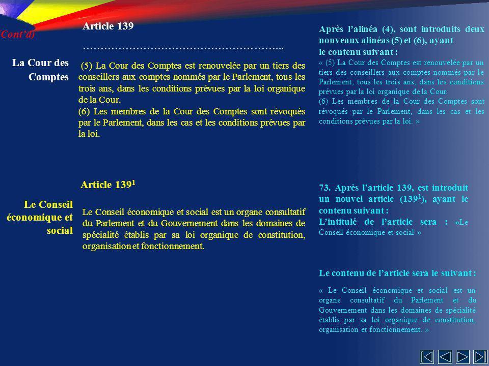Le Conseil économique et social Article 1391