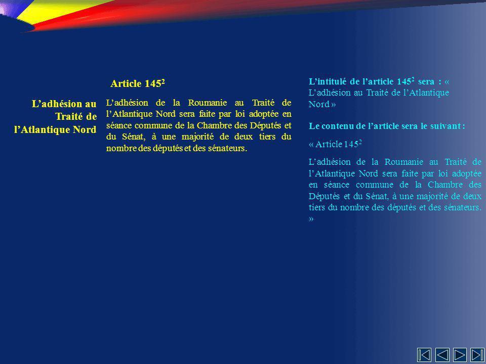 L'adhésion au Traité de l'Atlantique Nord Article 1452