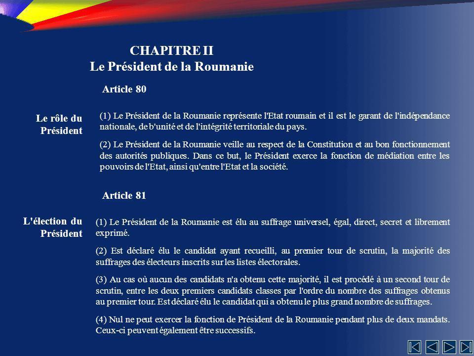Le Président de la Roumanie