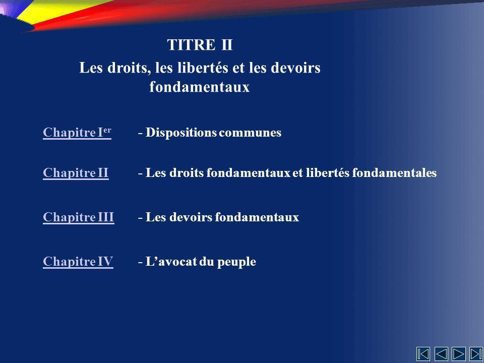 Les droits, les libertés et les devoirs fondamentaux