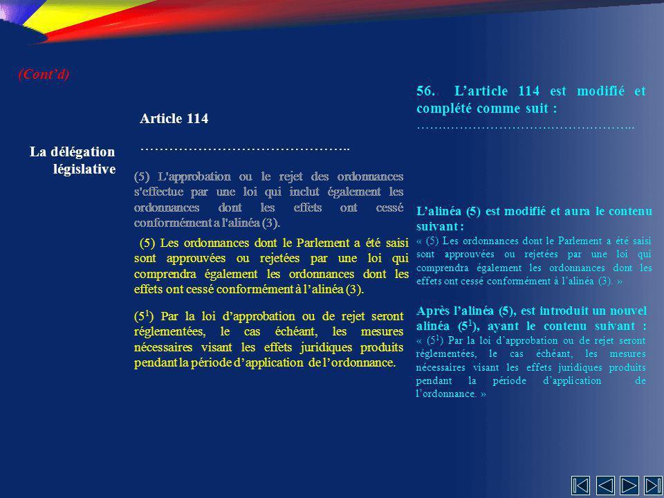 56. L'article 114 est modifié et complété comme suit :