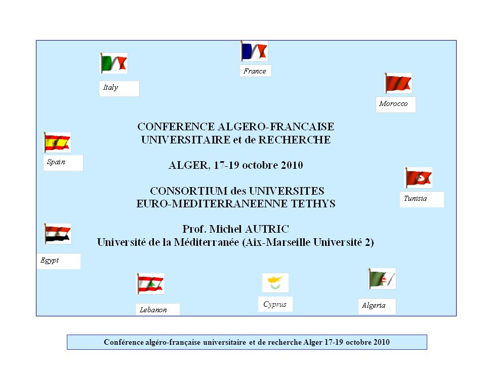 Cyprus Conférence algéro-française universitaire et de recherche Alger 17-19 octobre 2010
