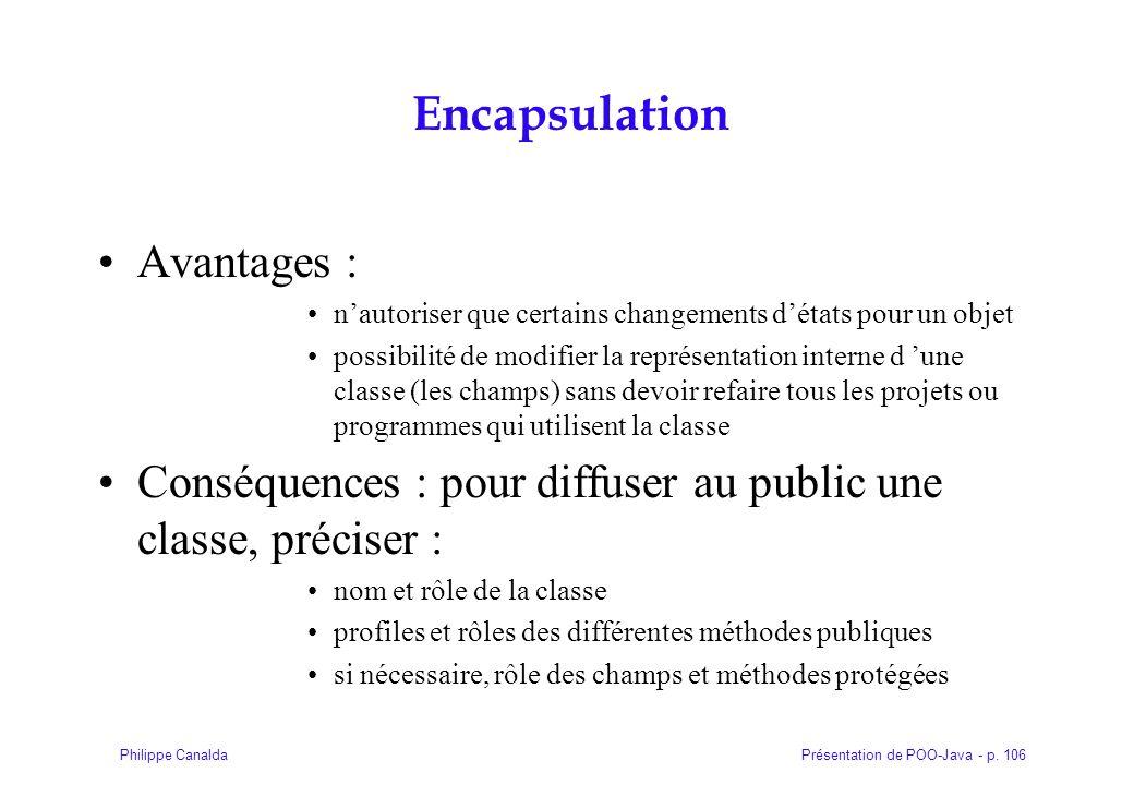 Encapsulation Avantages :
