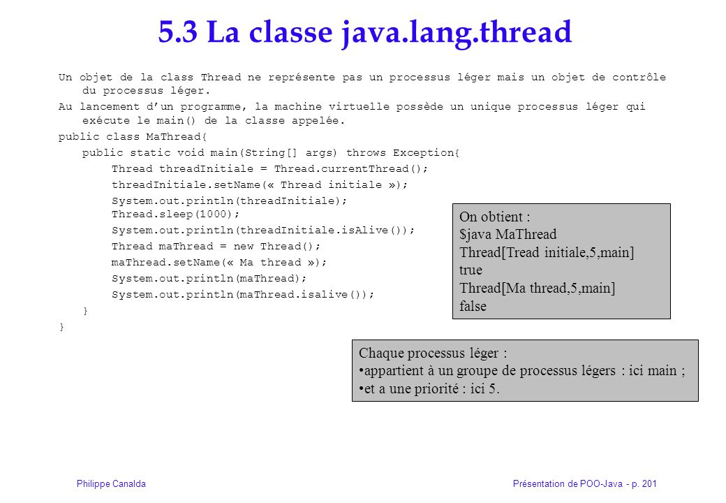 5.3 La classe java.lang.thread