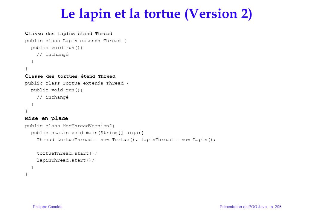Le lapin et la tortue (Version 2)