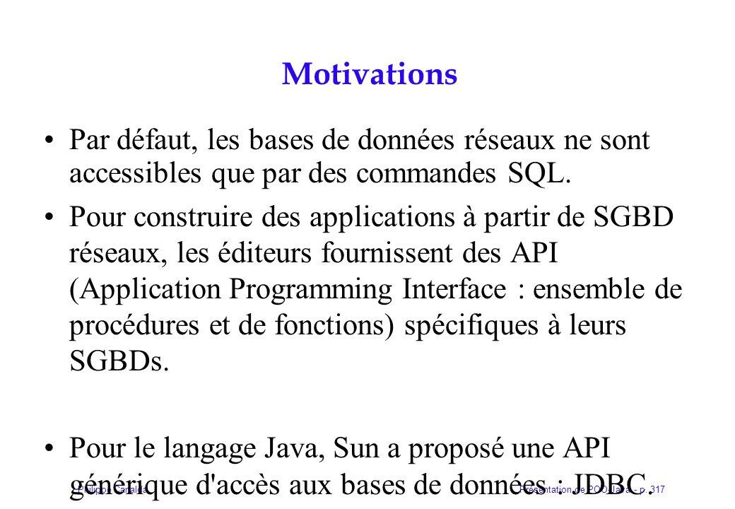 Motivations Par défaut, les bases de données réseaux ne sont accessibles que par des commandes SQL.