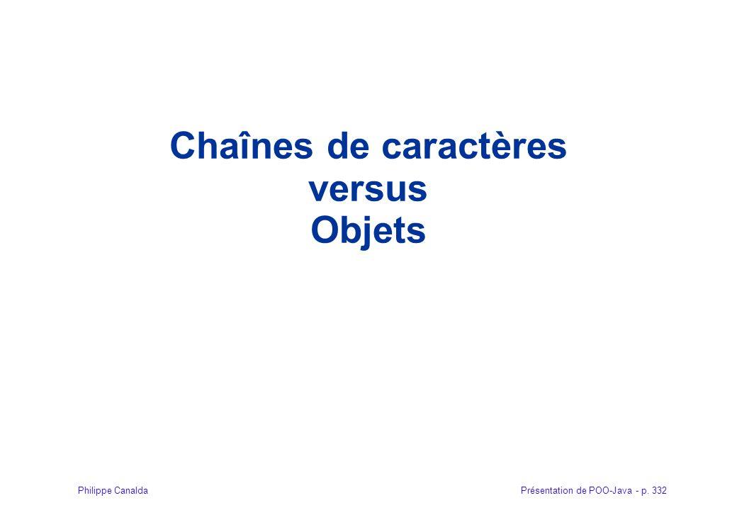 Chaînes de caractères versus Objets