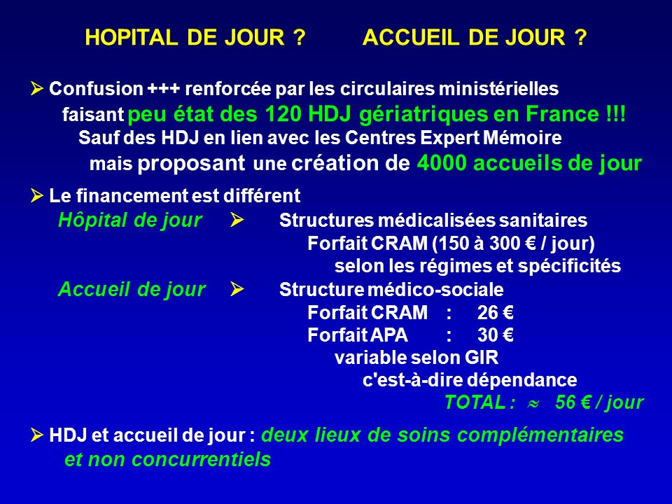 HOPITAL DE JOUR ACCUEIL DE JOUR