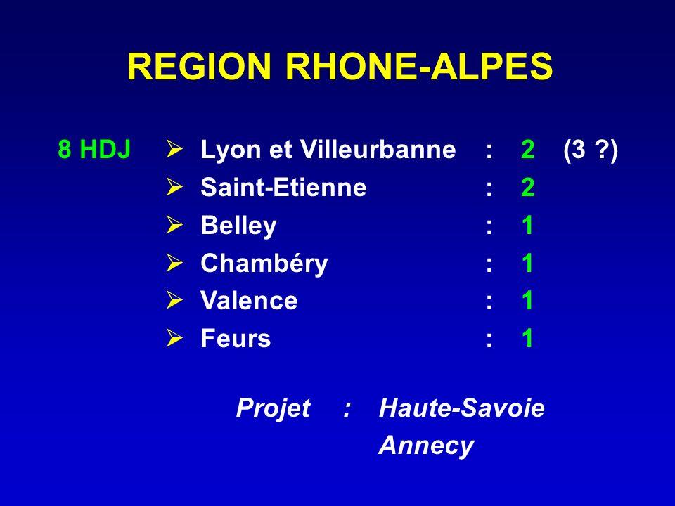 REGION RHONE-ALPES 8 HDJ  Lyon et Villeurbanne : 2 (3 )