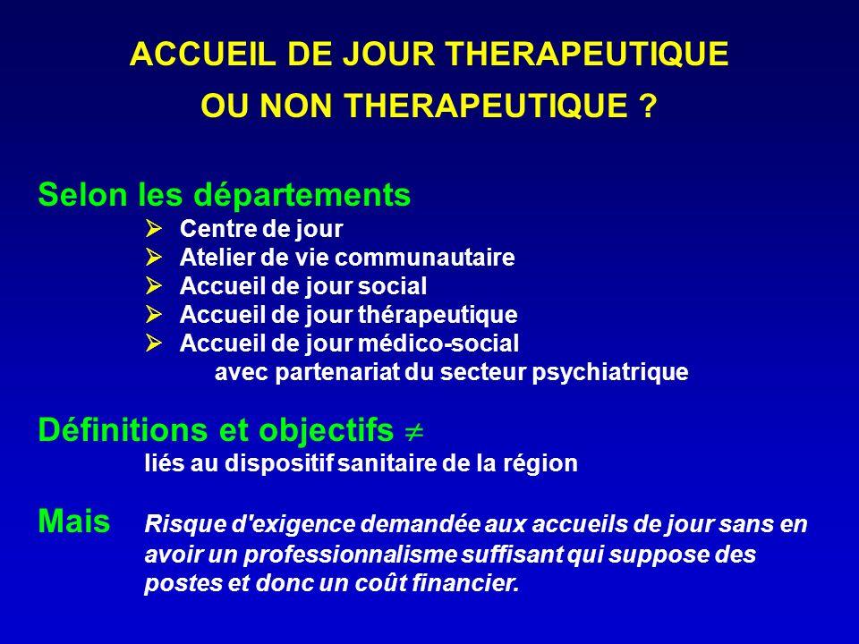 ACCUEIL DE JOUR THERAPEUTIQUE