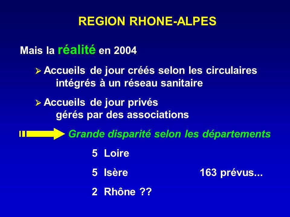 REGION RHONE-ALPES Mais la réalité en 2004