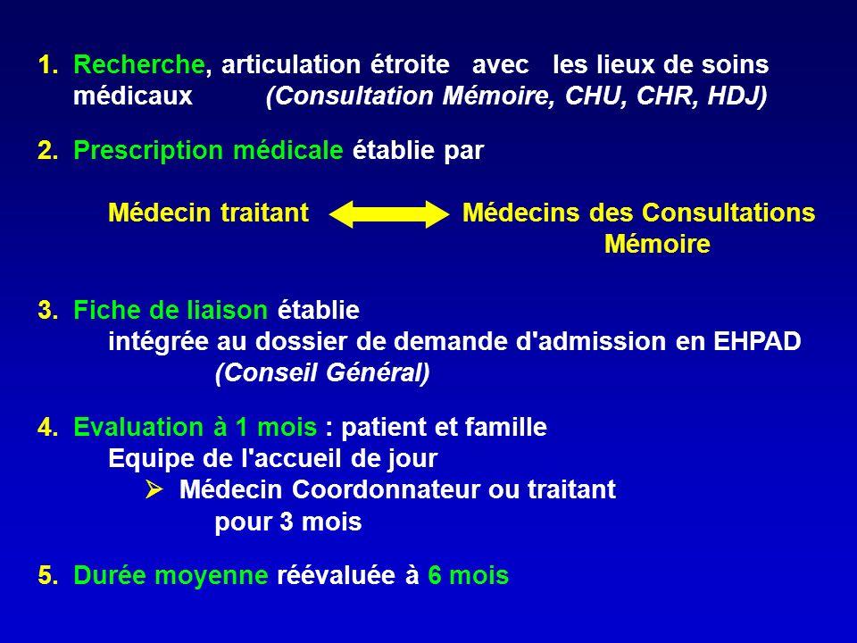 1. Recherche, articulation étroite avec les lieux de soins. médicaux