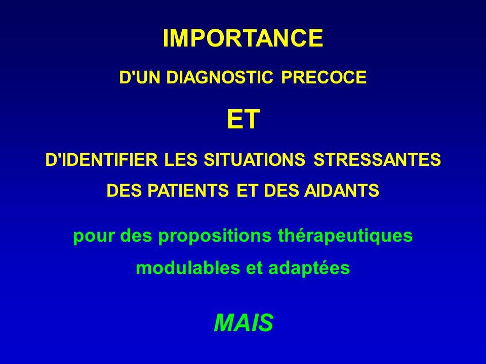 ET IMPORTANCE MAIS pour des propositions thérapeutiques